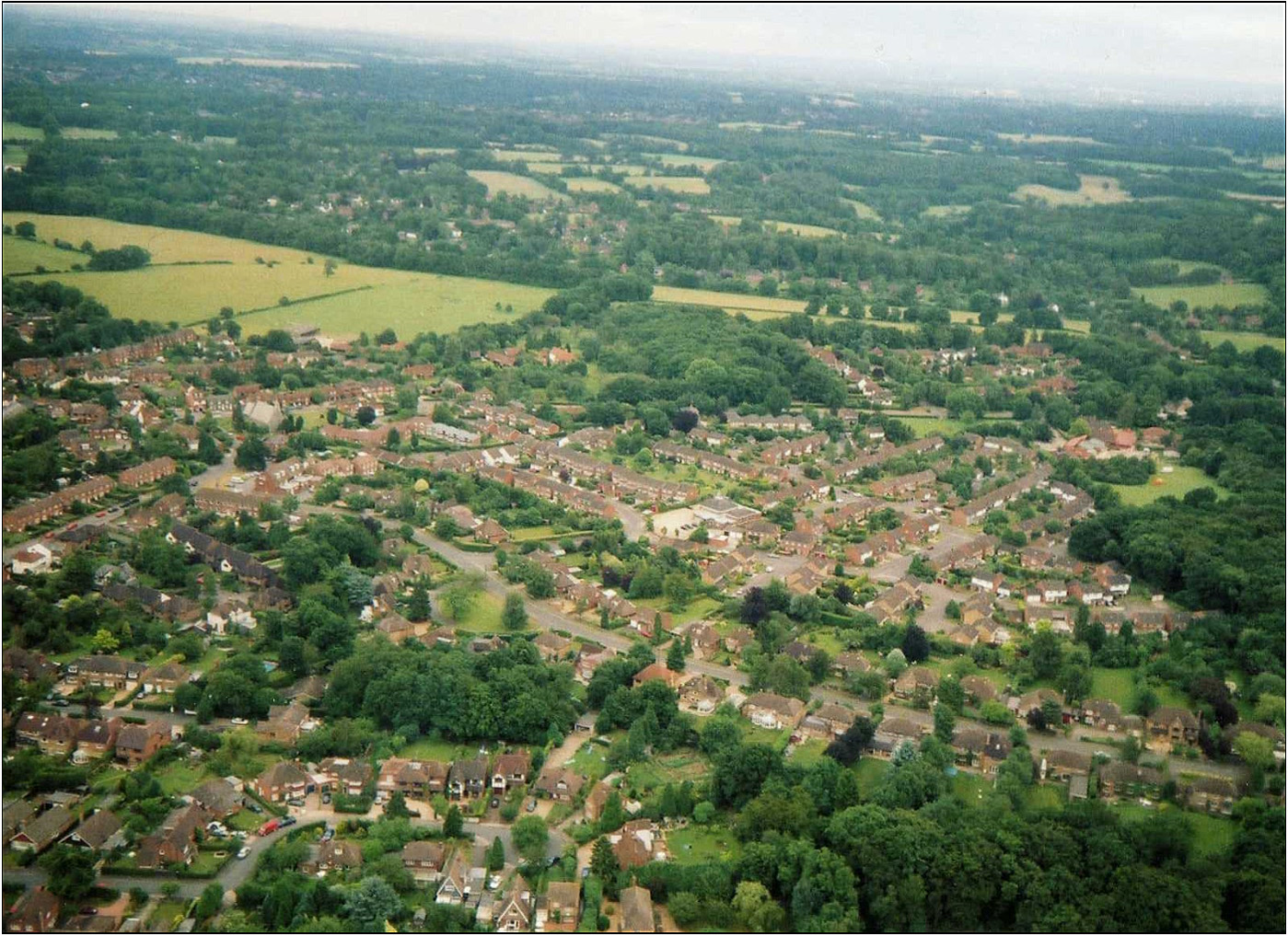 Seer green seen from the air